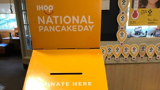 IHop in Newington celebrated National Pancake Day by giving donations to the Connecticut Children's Medical Center. (WFSB)