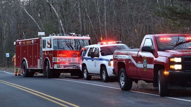 Crews rescued a man who fell at the Suffield Quarry on Tuesday (Jennifer Tilsch Nardi Golden, Suffield Fire Dept Photographer)