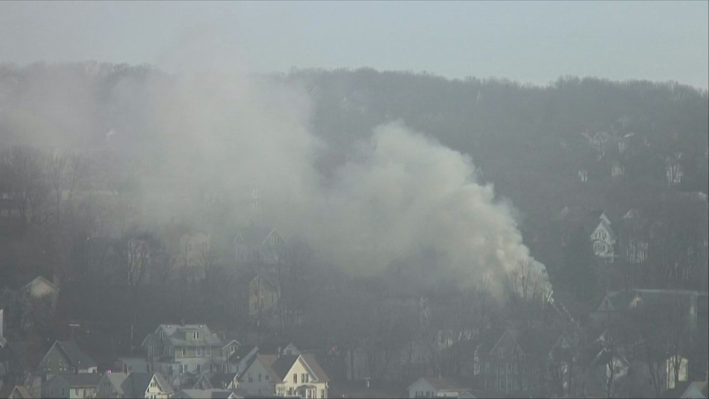 Firefighters in Waterbury responded to a vacant building fire on High Street on Wednesday morning. (WFSB)
