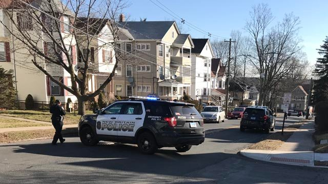 Police are investigating a stabbing on Chestnut and East streets in New Britain. (WFSB)