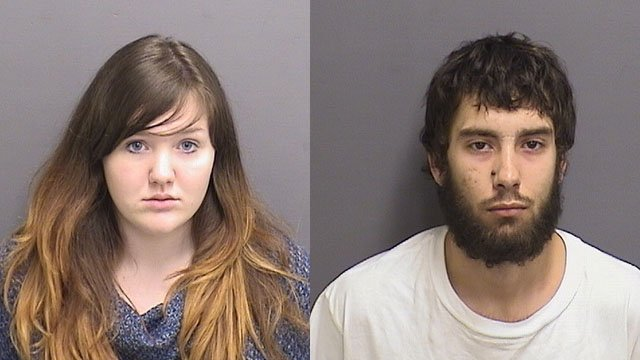 Sara Sensabaugh and Paul Sumner were arrested after a 911 caller saw them using a hypodermic needle on a highway in Coventry. (Coventry police)