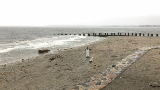 A stormy start to Friday in Old Saybrook. (WFSB)