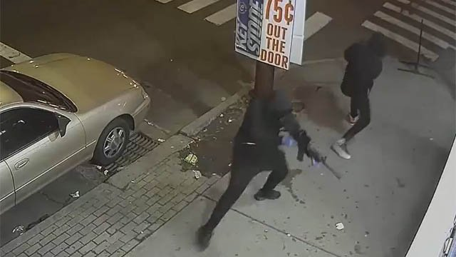Police are looking for two people who shot up a convenience store on Stratford Avenue in Bridgeport Tuesday. (Bridgeport police)