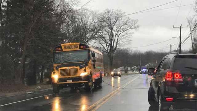 A wire fell on a school bus in Southington Friday afternoon (iwitness)