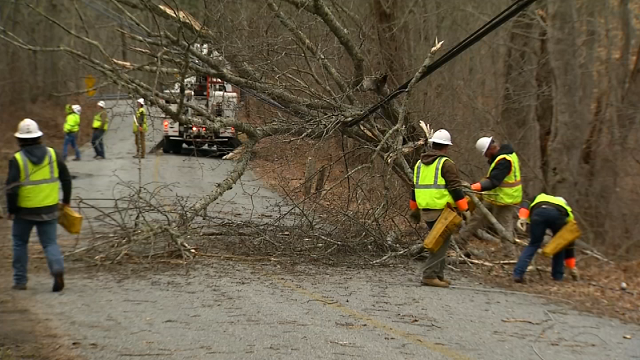 Cleanup continues statewide following nor'easter (WFSB)