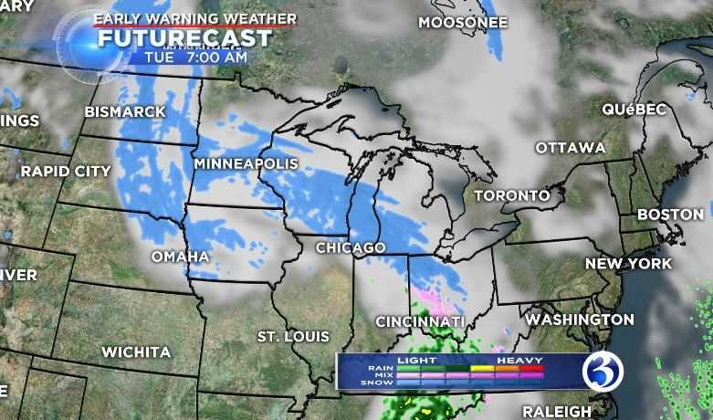 Snow and mixed precipitation is in the forecast (WFSB)