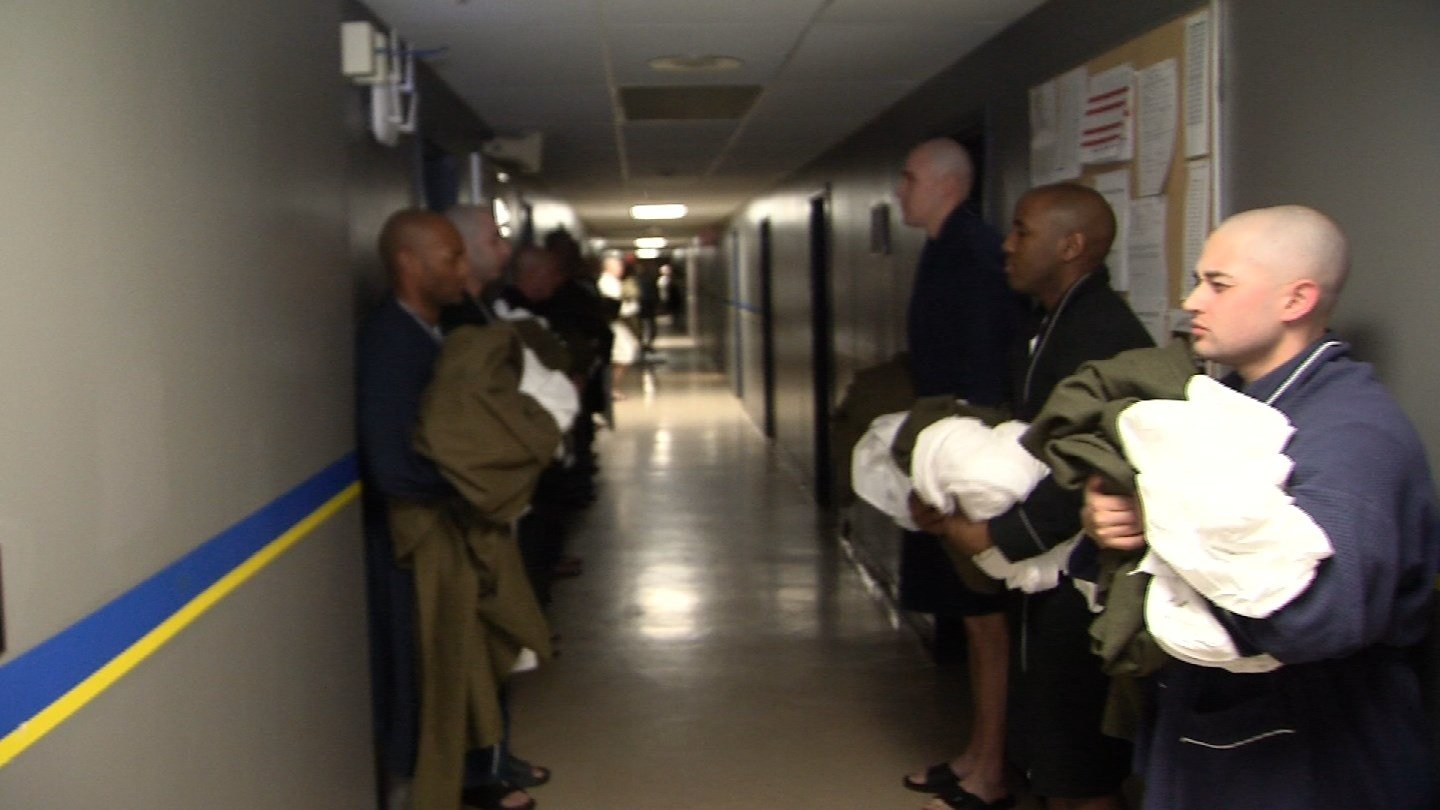 State police recruits got up at 5:15 a.m. sharp on Tuesday as part of their academy training. (WFSB)