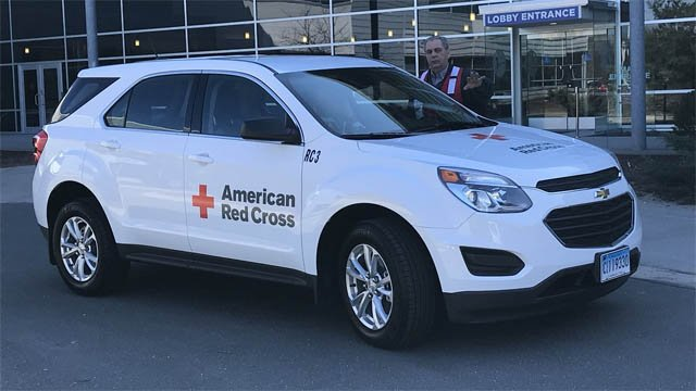 The American Red Cross showed off a new disaster relief vehicle on Tuesday (WFSB)