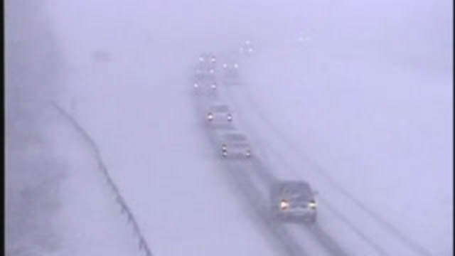 A look at the conditions on I-84 in Danbury Wednesday afternoon (CT DOT)