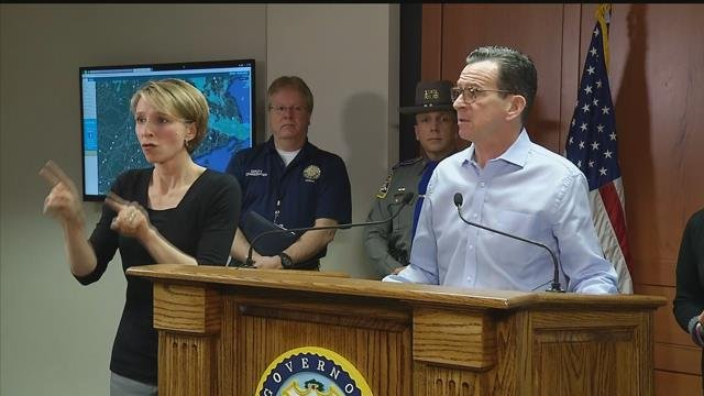Gov. Dannel Malloy provided a storm update on Thursday morning. (WFSB)