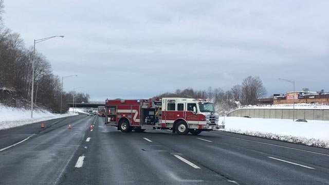 A serious crash closed I-84 east in Vernon on Thursday morning. (Vernon police)