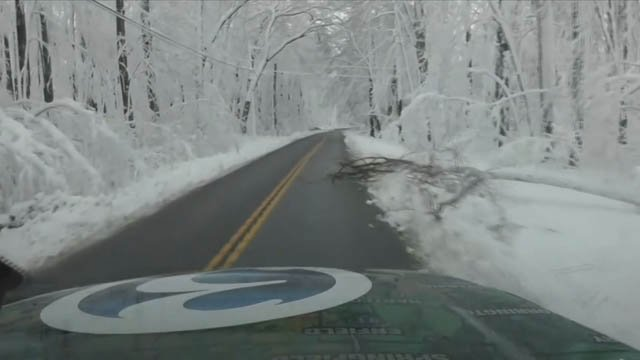 Winter Storm Elsa made for tricky travel on Thursday morning (WFSB)