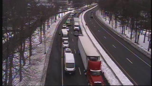 Delays are being reported on Route 2 east in East Hartford (CT DOT)