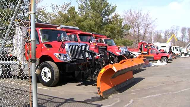 Crews spent Monday gearing up for Winter Storm Ferris (WFSB)