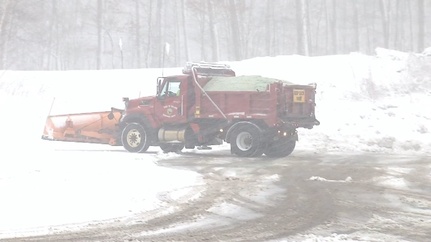 Plows were out and about in Tolland on Tuesday. (WFSB)