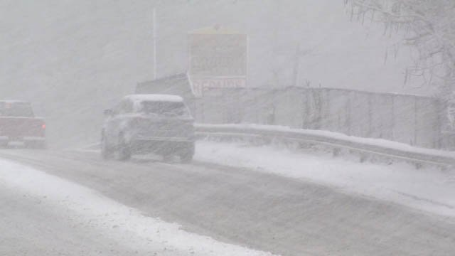 Road conditions quickly deteriorated on Tuesday in the New Haven area (WFSB)