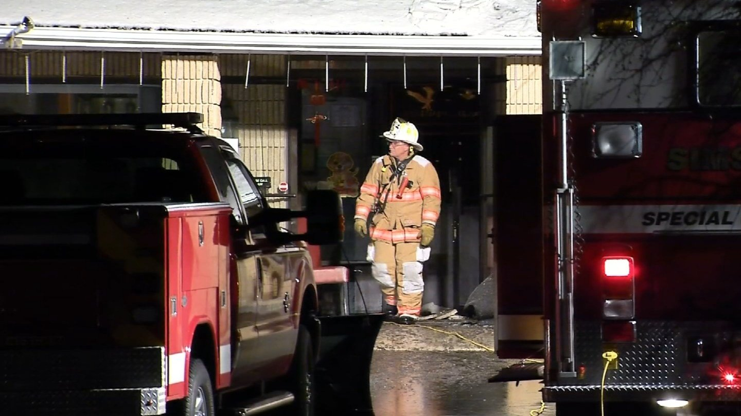 A fire broke out at the Tan Wong Chinese Restaurant in Simsbury overnight. (WFSB)