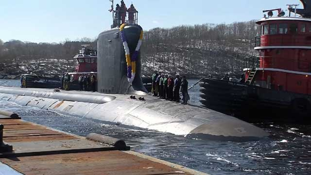 After six months at sea, the USS Minnesota returned home on Wednesday (WFSB)