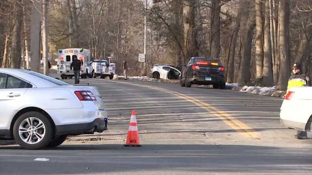 Two teenagers were seriously injured in a crash in Wallingford on Friday afternoon (WFSB)