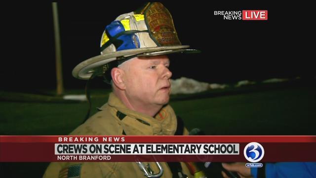 Crews respond to fire at North Branford school