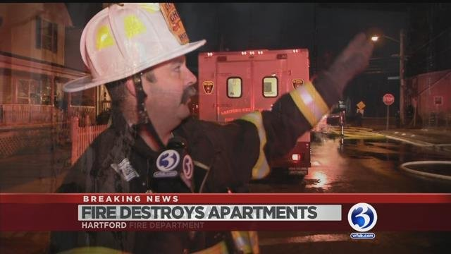 Hartford fire displaces four families