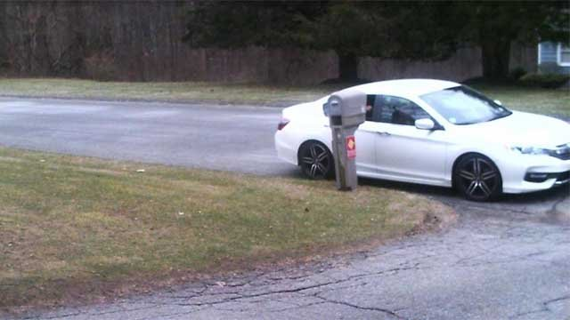 Police are looking for three suspects seen in this car (New Milford Police)