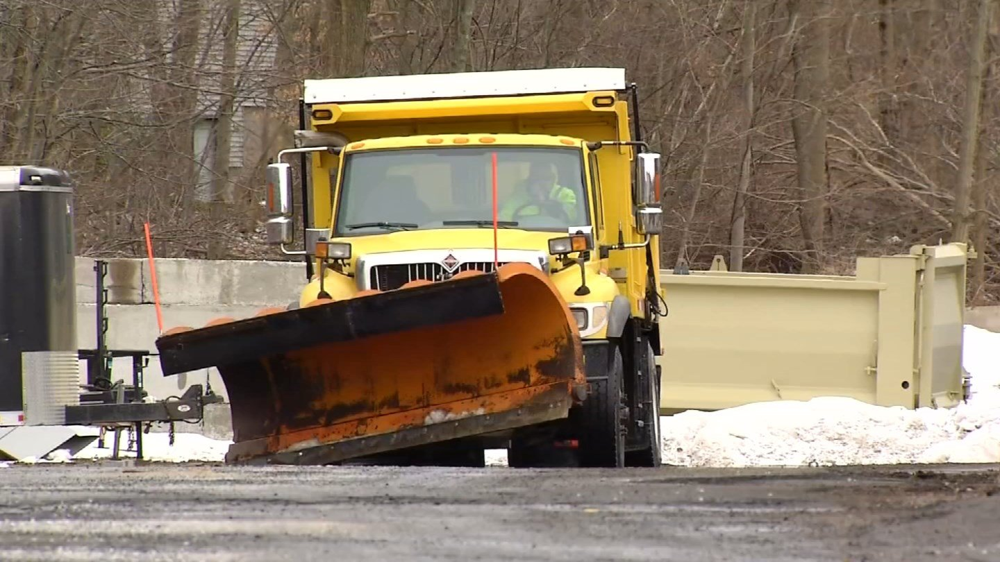 Hamden had just prepared its trucks for spring before Winter Storm Genny. (WFSB)