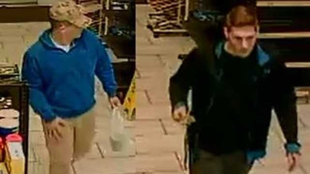 Police are looking to identify these two men (Watertown Police)