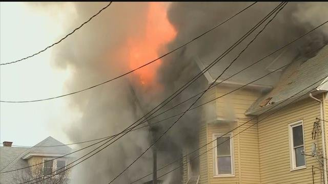 RAW VIDEO: New Britain house fire