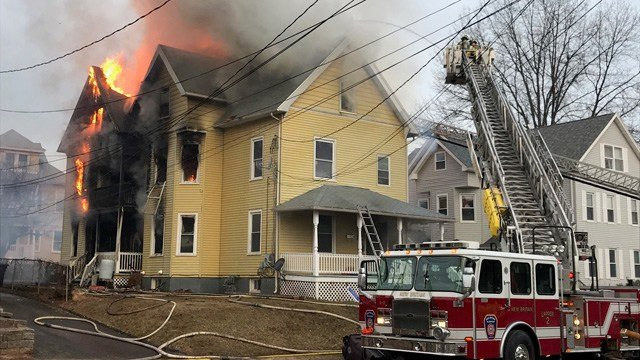 A fire was reported at a home on Maple Street in New Britain. (WFSB)