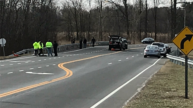 A motorcyclist was killed in a Friday morning crash in Bloomfield, police said. (WFSB)