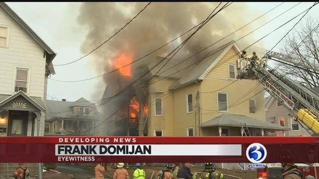 Video: Several displaced by house fire in New Britain
