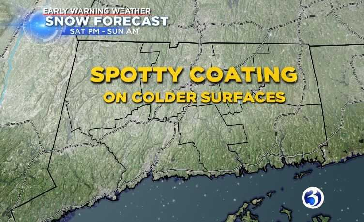 The first weekend of spring will be chilly and there will be a chance for a snow shower (WFSB)