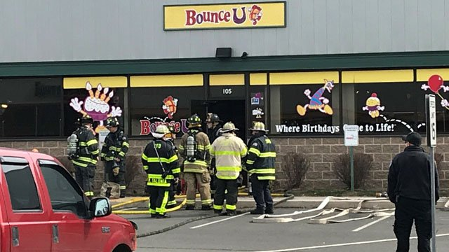 Bounce U was evacuated in Rocky Hill while firefighters worked on a fire. (WFSB)