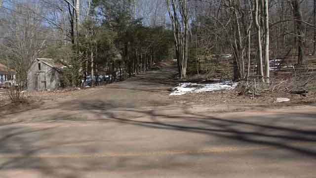 A woman's body was found at a home on North Moodus Road Friday night (WFSB)