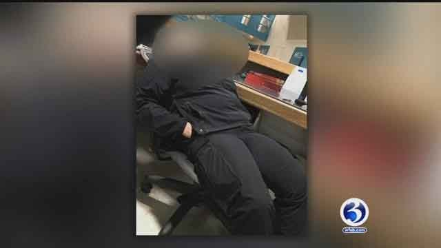 Photos were anonymously sent to Channel 3, allegedly showing prison workers sleeping on the job (submitted)