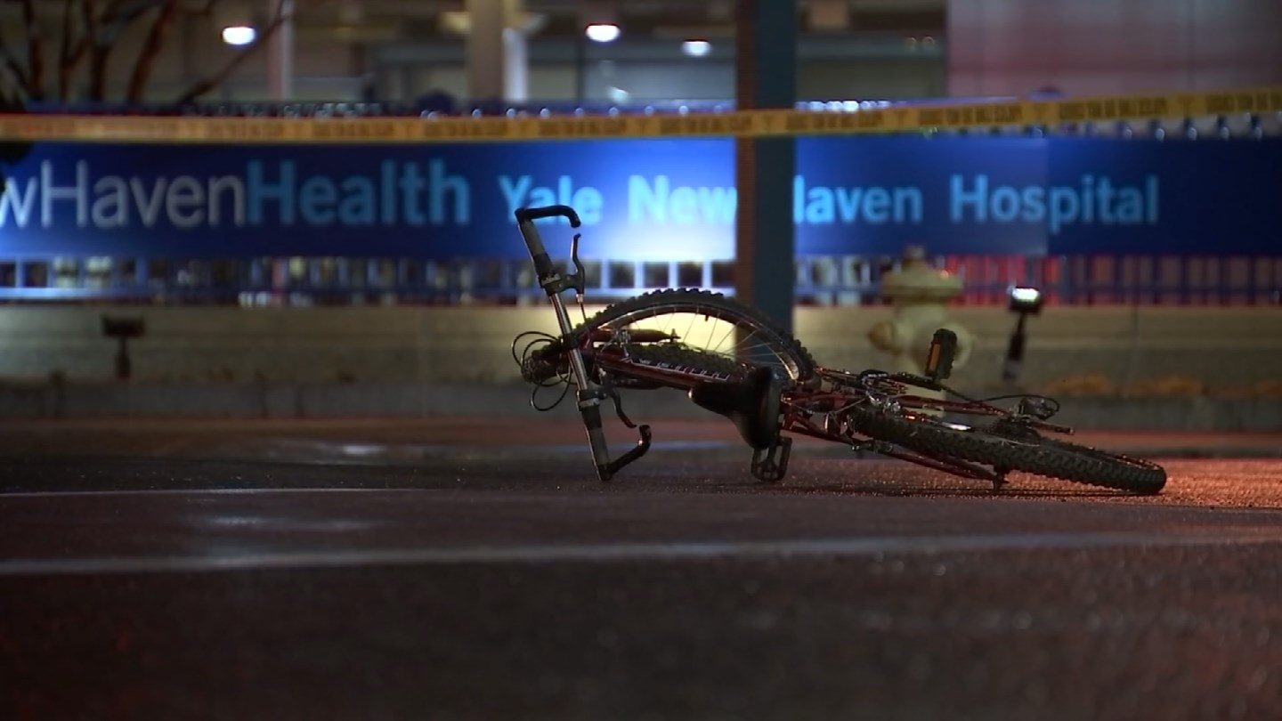 A 15-year-old bicyclist was found to have been at fault when he was struck by a car in New Haven on Tuesday night. (WFSB)