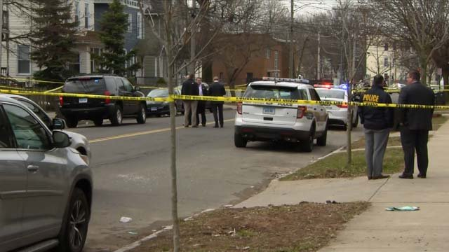 A man was taken to the hospital after he was shot in the buttocks in New Haven Wednesday (WFSB)