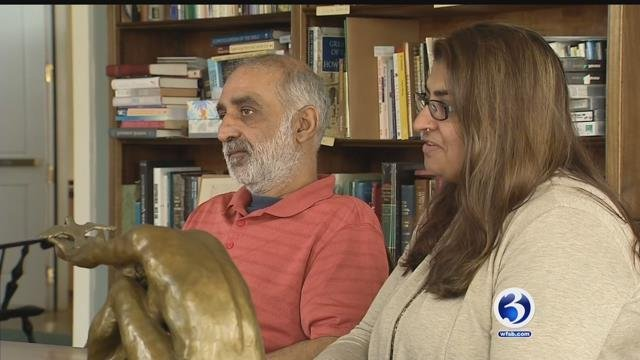 A Pakistani couple is taking sanctuary in a church in Old Lyme to avoid deportation (WFSB)