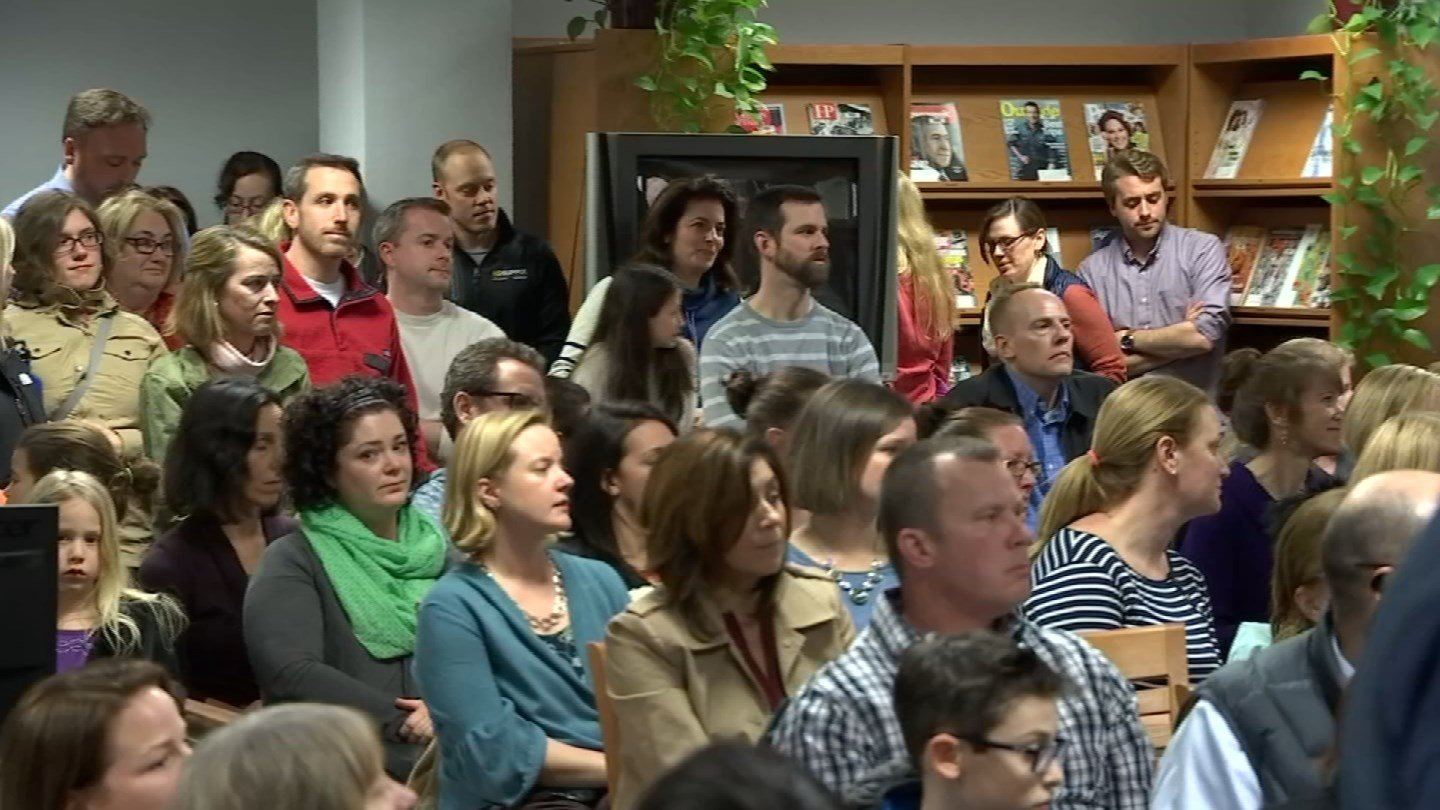 Parents and students spoke out on Wednesday about a plan to close John Lyman Elementary School in Middlefield. (WFSB)