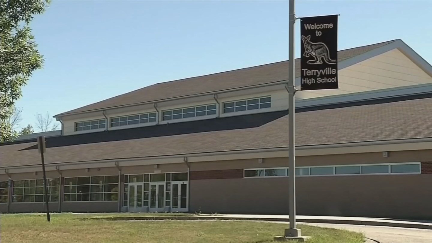Plymouth officials are set to discuss bringing back a school resource officer to Terryville High School. (WFSB)
