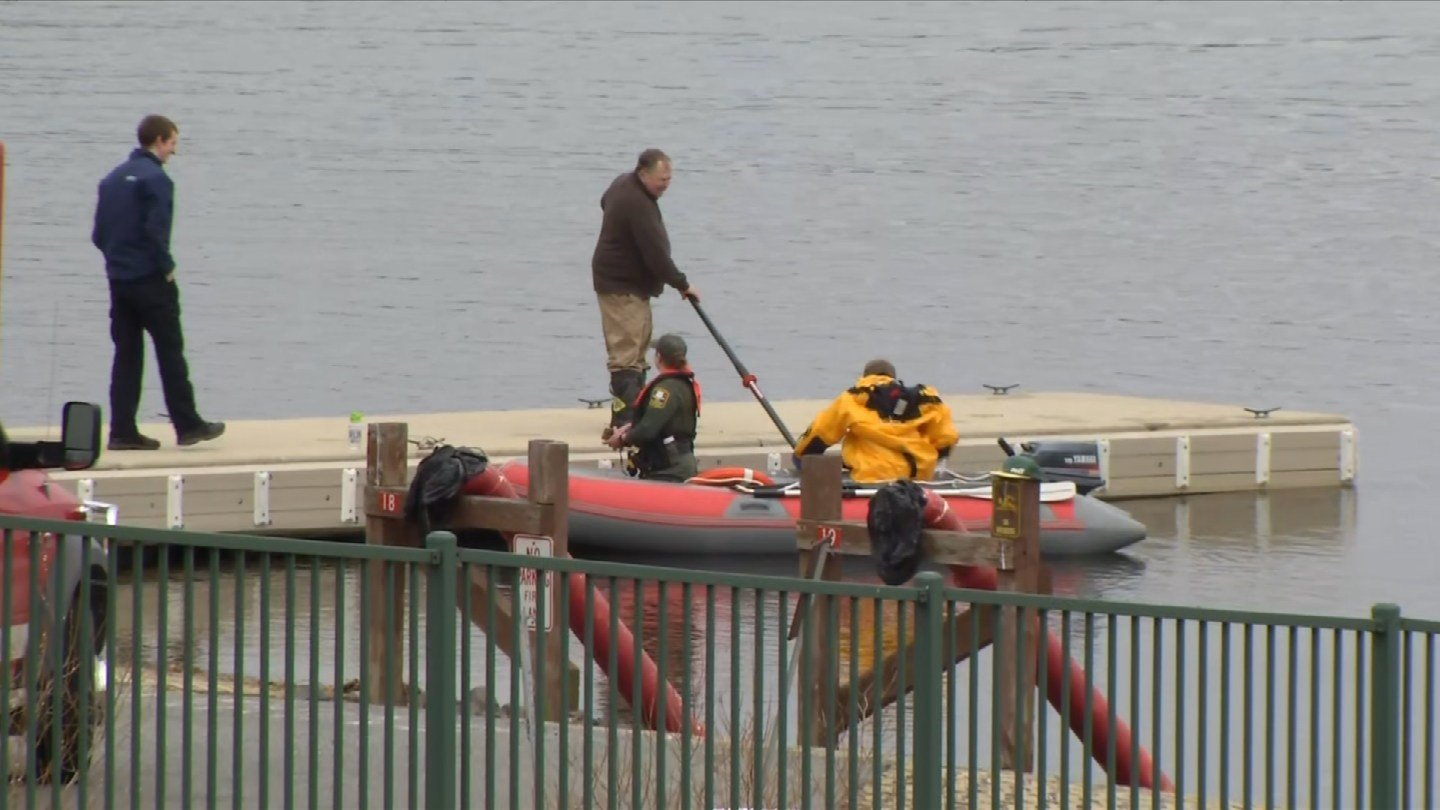 A man was rescued from Gardner Lake in Salem on Thursday morning after his boat capsized. (WFSB)