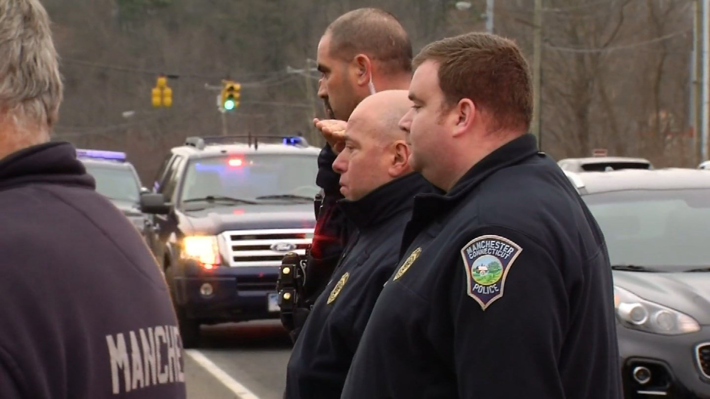 An outpouring from law enforcement departments across the state was offered following the death of Trooper First Class Kevin Miller. (WFSB)