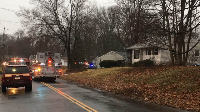 A car fire spread to a home on Ellsworth Drive in Bloomfield Friday morning. (WFSB)