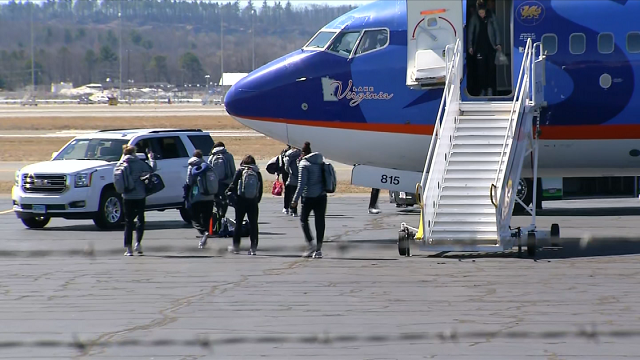 The UConn Women's basketball team returns from the Final Four (WFSB)