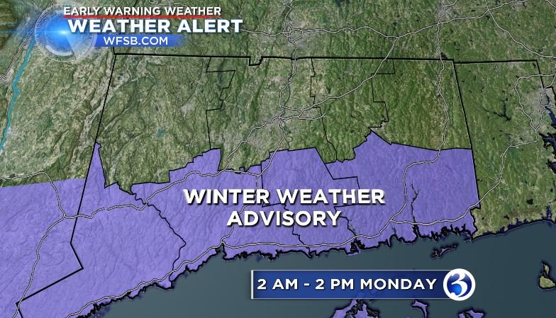 Winter Weather Advisory for southern Connecticut (WFSB)