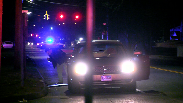 New Haven police investigate a shooting on Middletown Avenue (WFSB)