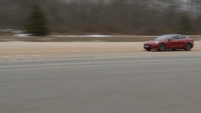 (Sen. Richard Blumenthal tested a self driving car (WFSB)