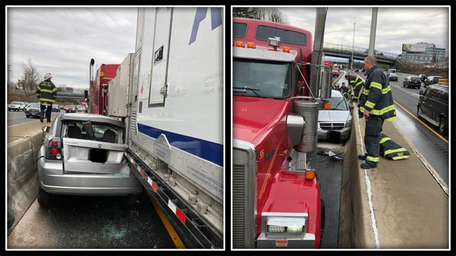 Tractor-trailer crash creates delays on I-95 in Norwalk (CT State Police)