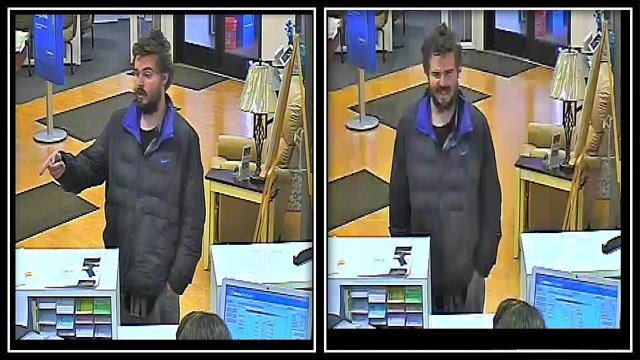 Roseville bank robbery suspect sought